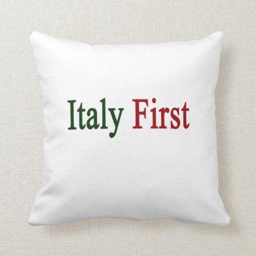 Italy First Throw Pillows