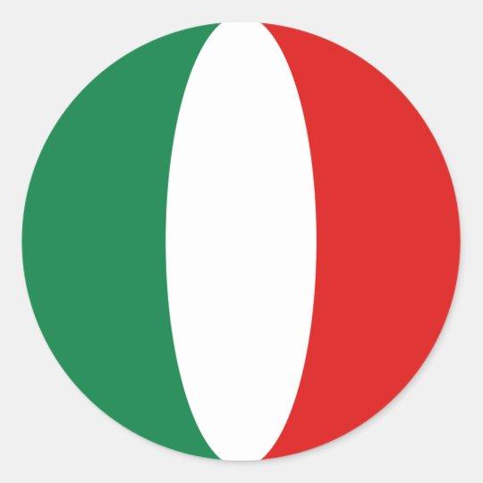 Italy Fisheye Flag Sticker