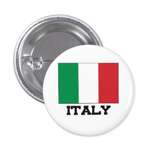 Italy Flag 1 Inch Round Button