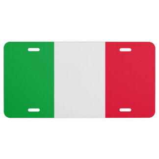 Italy Flag 1 License Plate