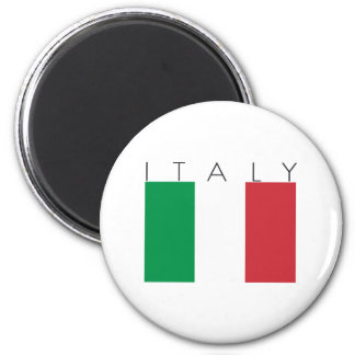 Italy Flag 2 Inch Round Magnet