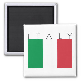 Italy Flag 2 Inch Square Magnet