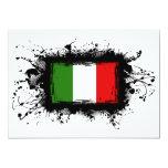 "Italy Flag 5"" X 7"" Invitation Card"