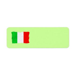 ITALY FLAG Address Label
