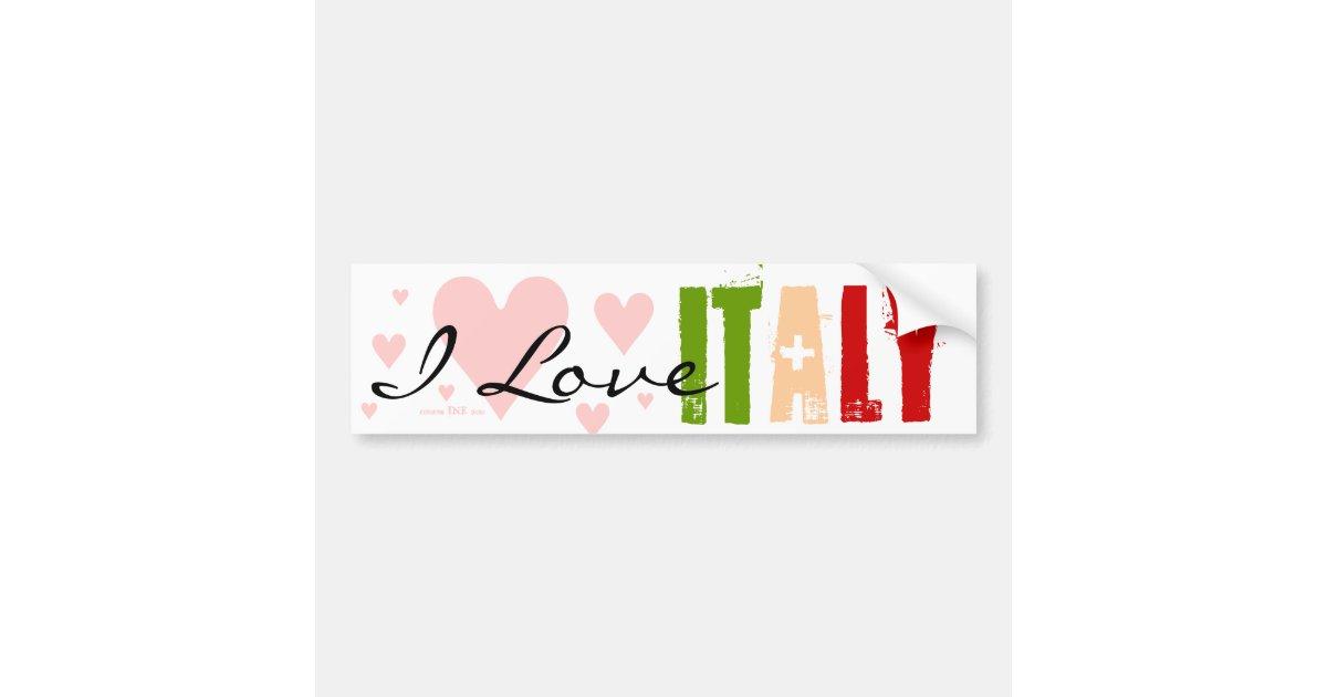 Italy Flag and Italian Pride Colors Bumper Sticker | Zazzle