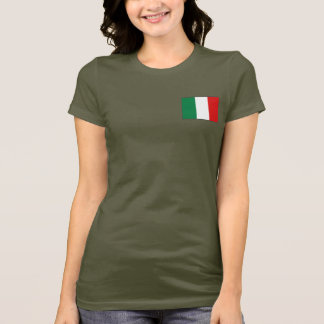Italy Flag and Map dk T-Shirt