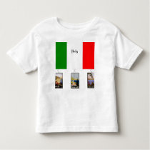 Italy - Flag and three vintage travel posters Toddler T-shirt