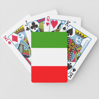 Italy flag bicycle playing cards
