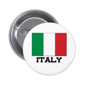 Italy Flag Pinback Buttons