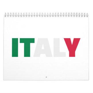 Italy flag calendar