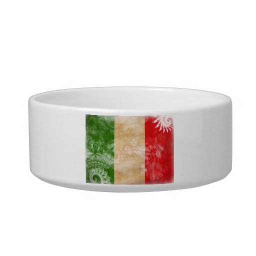 Italy Flag Cat Water Bowls