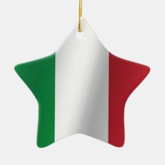 Italy flag ceramic ornament