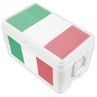 Italy flag chest cooler
