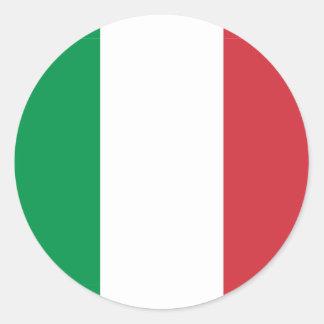 Italy Flag Classic Round Sticker
