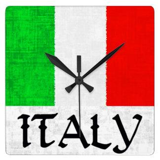 ITALY FLAG Clock
