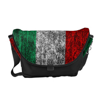 italy flag courier bag