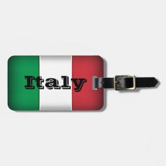 Italy Flag Dark Edge Bag Tag