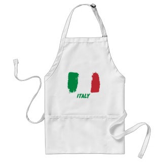 Italy flag design adult apron