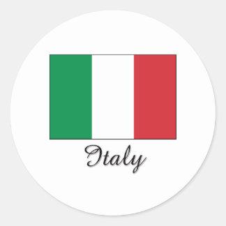 Italy Flag Design Classic Round Sticker