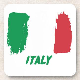 Italy flag design coaster