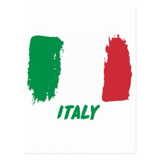 Italy flag design postcard