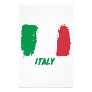 Italy flag design stationery