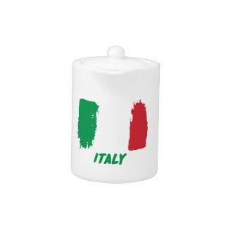 Italy flag design teapot