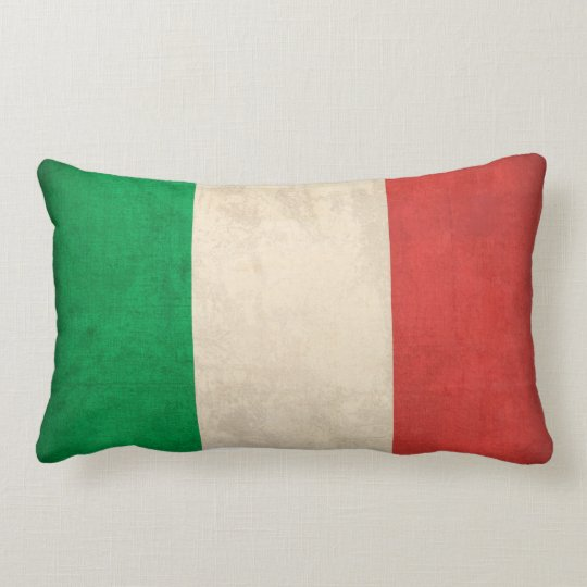 Italy Flag Distressed Pillow