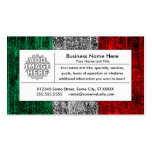 italy flag Double-Sided standard business cards (Pack of 100)