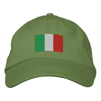 Italy flag embroidered adjustable hat