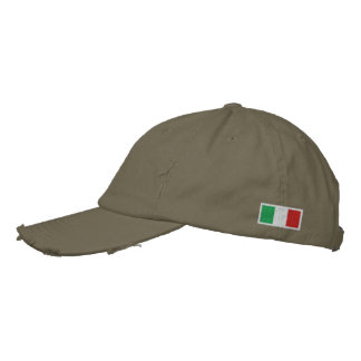Italy Flag Embroidered Hat