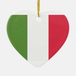 Italy Flag Emoji Twitter Adorno Navideño De Cerámica En Forma De Corazón