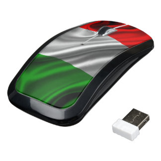 Italy Flag Fabric Wireless Mouse