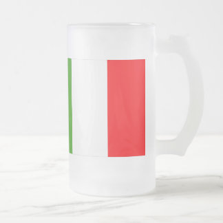 Italy Flag Frosted Glass Beer Mug