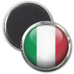 Italy Flag Glass Ball Refrigerator Magnets