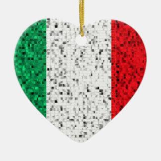 Italy Flag glitter ornament