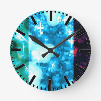Italy flag glitz glamour clock