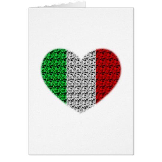 Italy Flag Heart Card