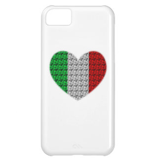 Italy Flag Heart Case For iPhone 5C