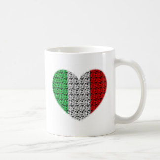 Italy Flag Heart Coffee Mug