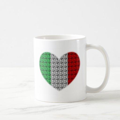 Italy Flag Heart Coffee Mug