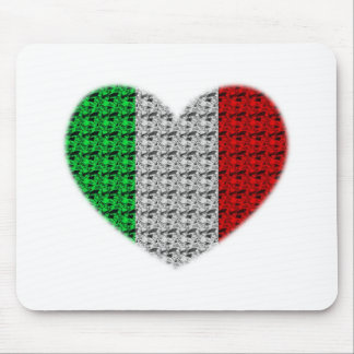 Italy Flag Heart Mouse Pad