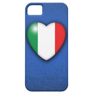 Italy Flag Heart on azure background iPhone 5 case