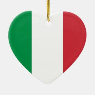 Italy Flag Heart Ornament