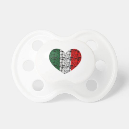 Italy Flag Heart Pacifier