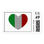 Italy Flag Heart Postage Stamp