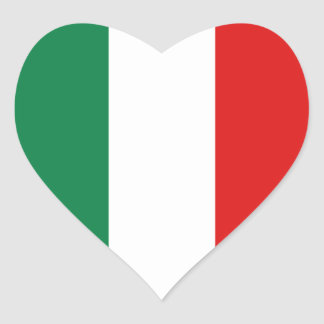 Italy Flag Heart Sticker