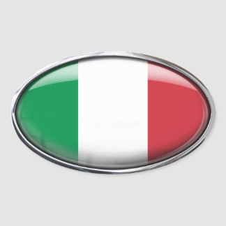 Italy Flag in Glass Oval (pack of 4) Oval Sticker