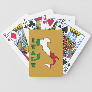 Italy Flag in Map Bicycle Card Decks