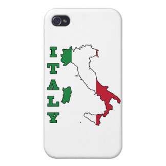 Italy Flag in Map Case For iPhone 4